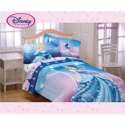 Disney Cinderella Secret Princess Twin/Full Comforter | Cinderella .