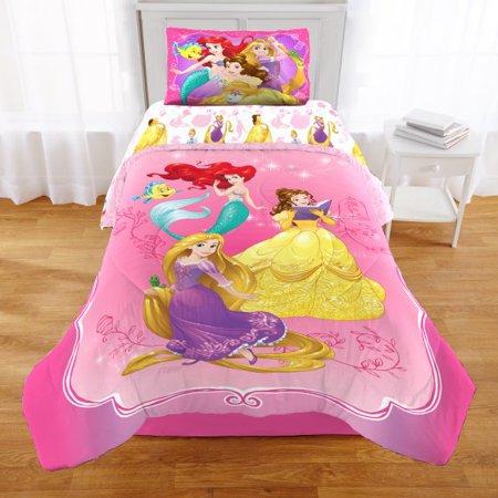 Full Size Disney Princess, Rapunzel, Belle & Ariel Comforter .