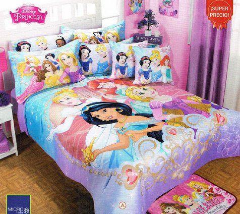 Disney Princess Magic Comforter Bedspread Sheet Set Twin 6PC Girl .