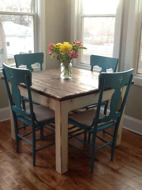 RUSTIC FARMHOUSE TABLE Small Kitchen Dining Farm House Reclaimed .