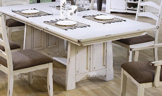Capture Beauty by Distressed Wood Dining Table | Home Interio