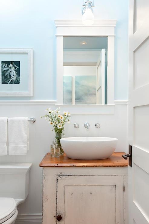 Distressed Bathroom Cabinets - Cottage - bathroom - Jodi Fost