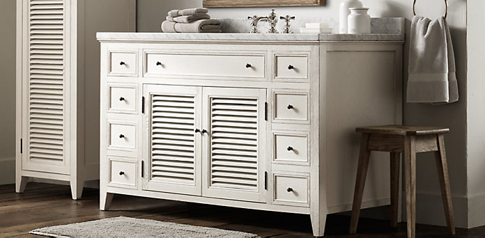 Shutter Bath Collection - Distressed White |