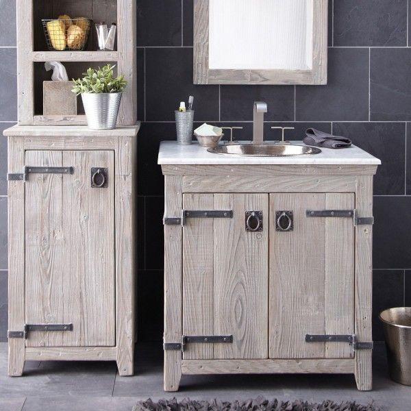 Furniture Creative Distressed Wood Bathroom Vanities Using Rustic .