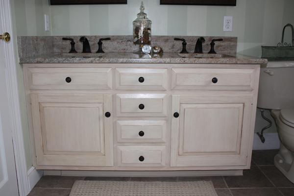 Antiqued Distressed Bathroom Vani
