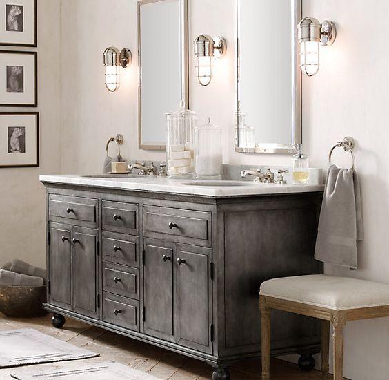 45 Trendy And Chic Industrial Bathroom Vanity Ideas | Bathroom .
