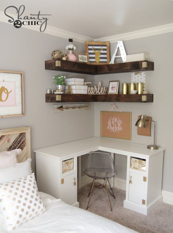 DIY Corner Floating Shelves | Recipe | Bedrooms | Room decor, Home .