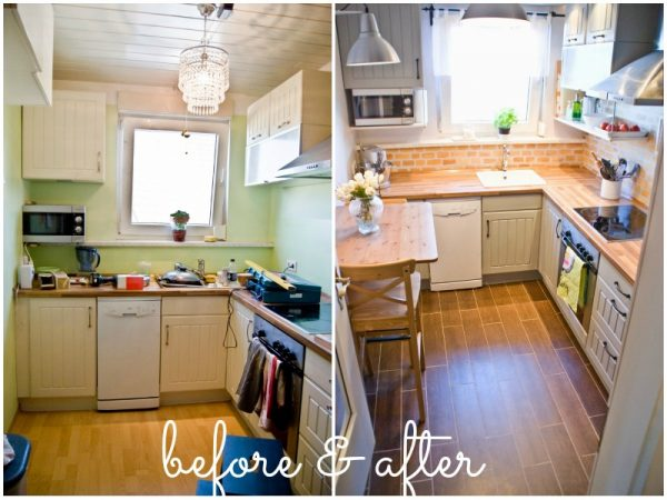Small Kitchen Ideas on a Budget - Before & After Remodel Pictures .