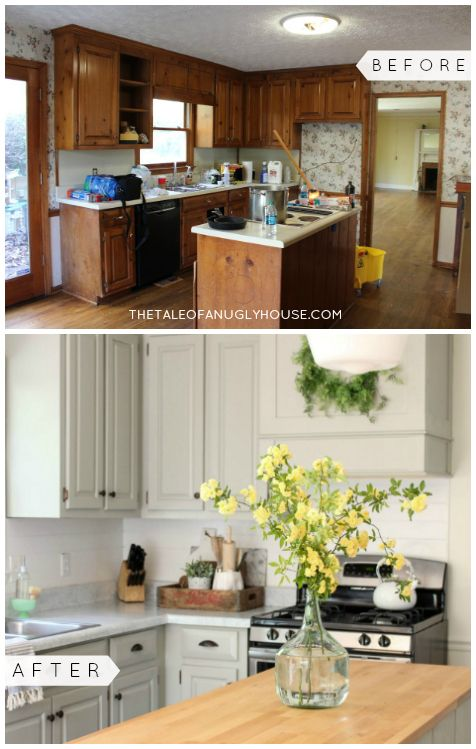 Small Kitchen Remodeling Ideas on a Budget | Diy kitchen remodel .