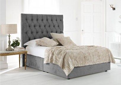 Kensington Upholstered Divan Base and Headboard | Bed headboard .