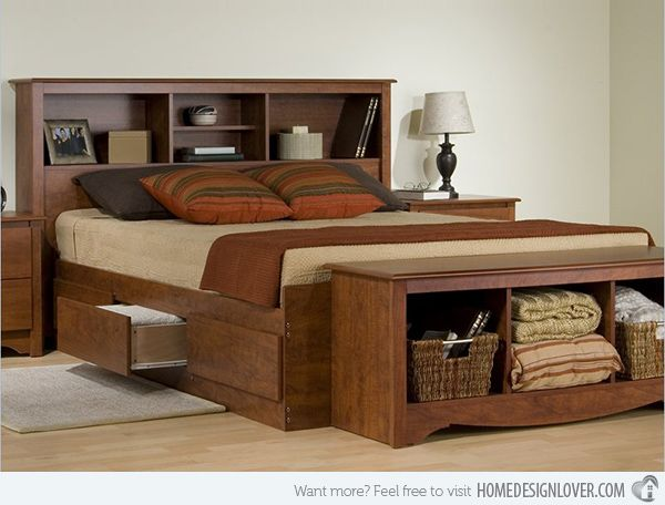 Combine Beauty and Function in 15 Storage Platform Beds | Bed .