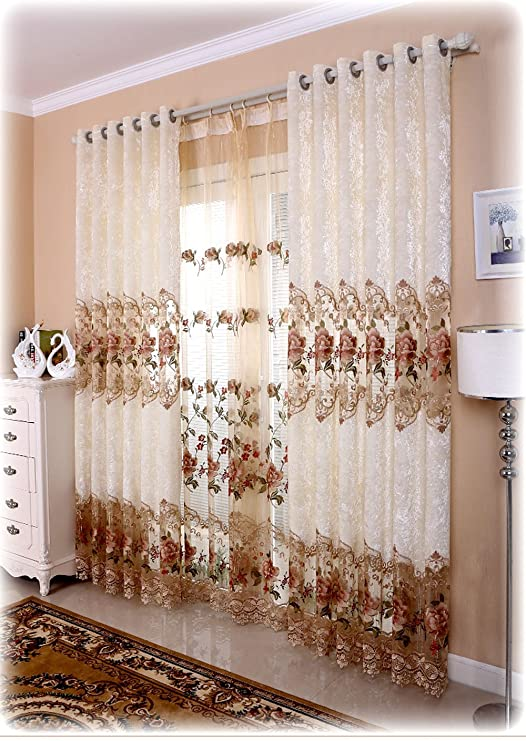 Amazon.com: Shunshan Luxury Window Curtains for Living Room Set of .