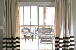 12 Projects for Fabulous DIY Curtains & Drapes | Glass door .