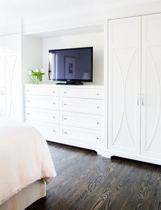 Built in dresser with tv | Built in dresser, Build a closet .