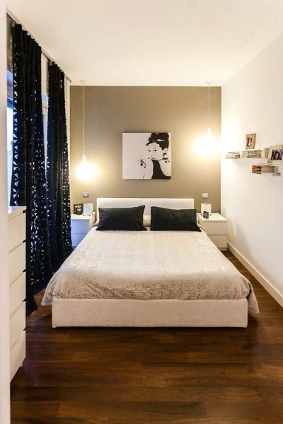 10 Hacks to Make a Small Space Look Bigger | Small master bedroom .