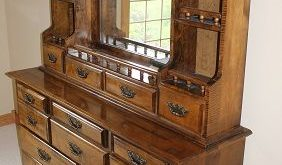 Dresser Mirror With Shelves | Dresser with mirror, Mirror with .