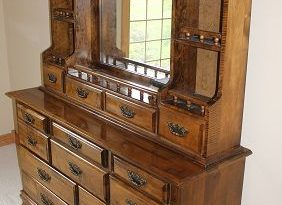 Dresser Mirror With Shelves | Dresser with mirror, Mirror with .