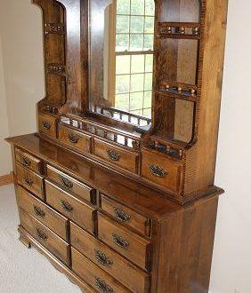 Dresser Mirror With Shelves   Dresser with mirror, Mirror with .