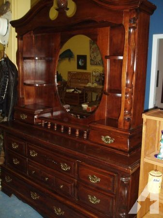 Pine 10 Drawer, 6 Shelf Dresser with Mirror - (Falls City) for .