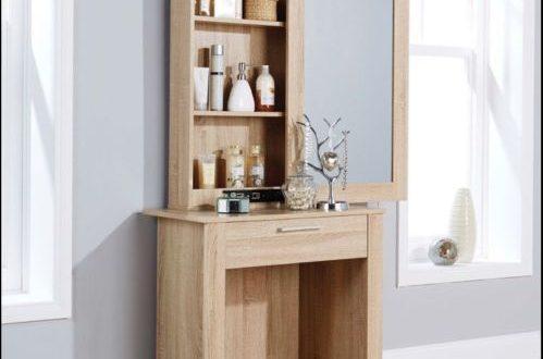 White Dressing Table Sliding Mirror Stool Vanity Shelves Drawer .