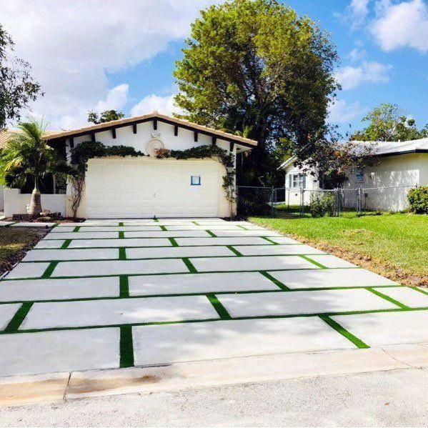 Modern Concrete And Grass Driveway Ideas For Small Homes .