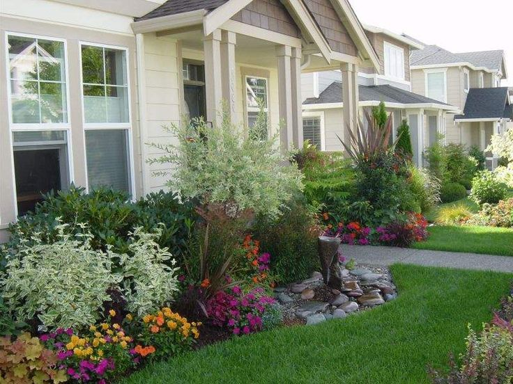 Garden Ideas For The Front Of The House | Large yard landscaping .