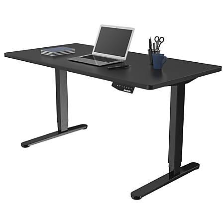 Loctek Electric Height Adjustable Stand Up Desk Black - Office Dep