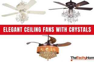 Elegant Ceiling Fans With Crystals | TheTechyHo