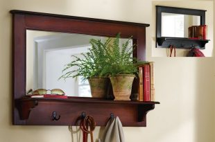 Entryway Mirror With Hooks And Shelf | Entryway mirror with hooks .