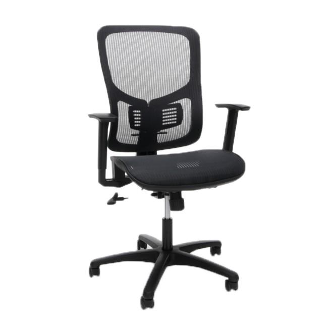 OFM ESS3055BLK Essentials Ergonomic Chair, Lumbar Support, Black,