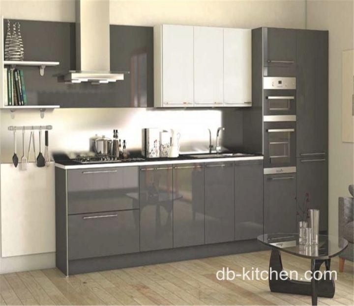 High Gloss Acrylic Grey Custom Modern Kitchen Cabinet for Prime .