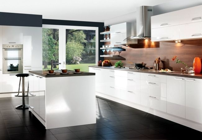 Awesome European Style Modern High Gloss Kitchen Cabine