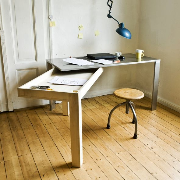 expandable desk by studio stephan schultz. small house, small home .