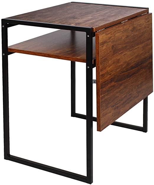 Amazon.com - Folding Dining Table, Compact Drop Leaf Table for .