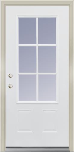 Mastercraft® Farmhouse 3/4 Lite Primed Steel Exterior Door System .