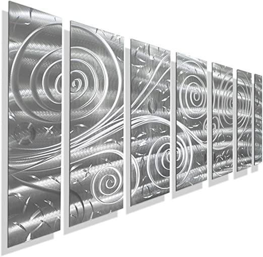 Amazon.com: Statements2000 Abstract Extra Large Metal Art Panels .