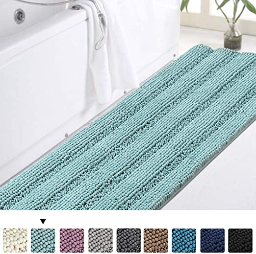 Amazon.com: Turquoize Bathroom Runner Extra Long Bathroom Rug Blue .