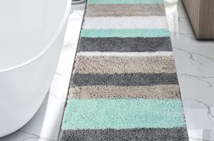 Amazon.com: HEBE Extra Long Bath Rug Runner for Bathroom Extra .