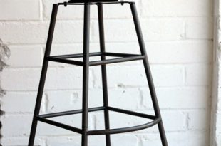 Aged Wood Tall Iron Bar Stool | Tall bar stools, Industrial bar .