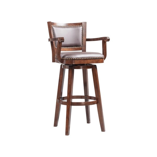 Shop Broadmoor Extra Tall Brown Swivel Barstool - On Sale .