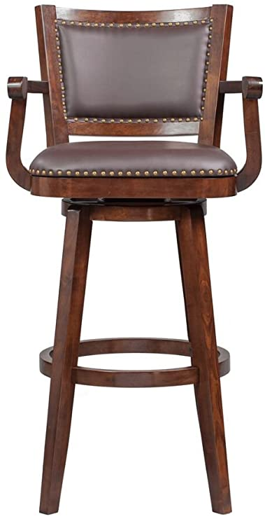 Amazon.com: Boraam Broadmoor Swivel Extra Tall Barstool, 50-Inch .