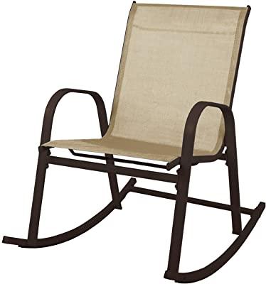 Amazon.com : Sadie Outdoor Acacia Wood Rocking Chair with Cushion .
