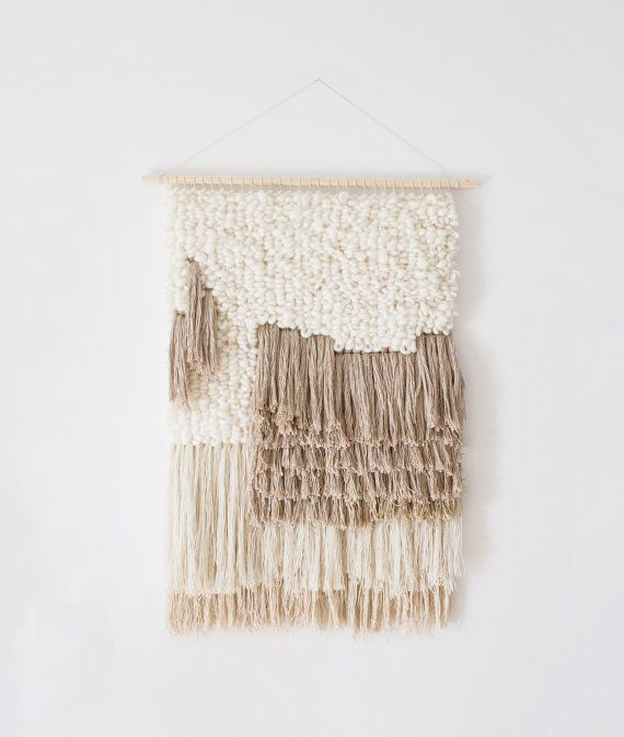 Woven wall hanging | Woven wall art | Woven tapestry wall hanging .