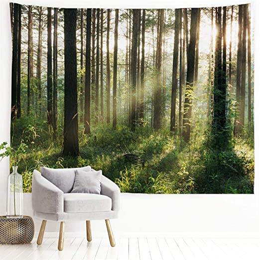 Amazon.com: PROCIDA Home Tapestry Wall Hanging Nature Art .