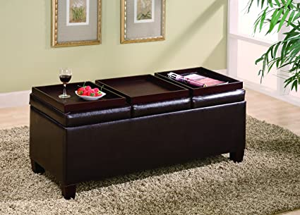 Amazon.com: Coaster Home Furnishings Storage Ottoman with .