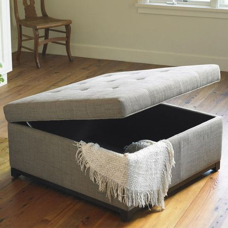 Robertson Storage Ottoman// need. | Ottoman in living room .