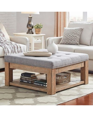 30% Off HomeVance Tufted Upholstered Storage Coffee Table, Gr