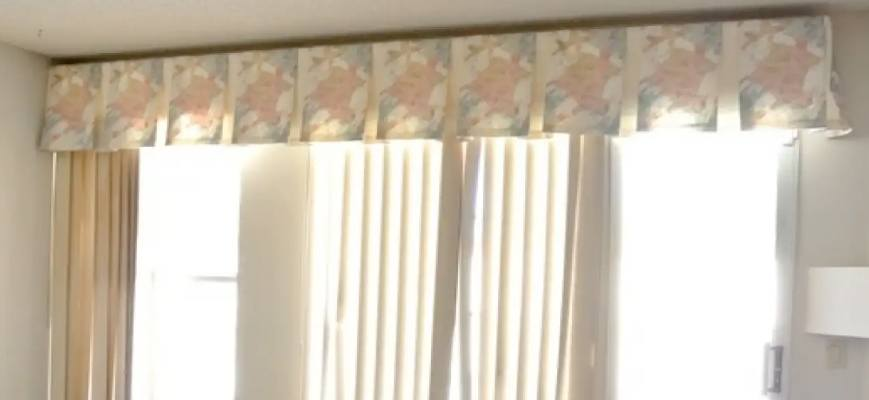 Fabric Valances For Vertical Blinds