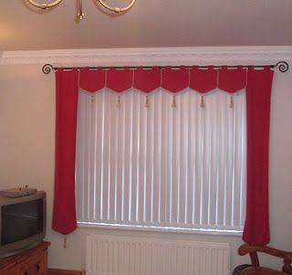 Idea for valance with vertical blinds | Vertical blinds, Vertical .