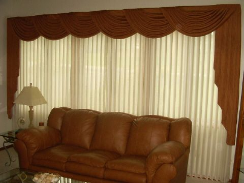 Valance for Vertical Blinds Designs | Sheer Radiance Vertical .